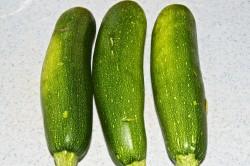 Three Whole Zucchini